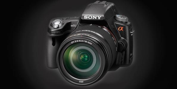 camara-reflex-Sony-A55