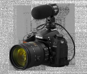 Nikon D7000 con micrófono