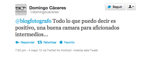 Pantallazo twitter @domingocaceres