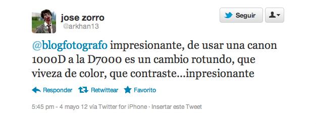 Pantallazo twitter @arkhan13