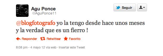 Pantallazo twitter @AguPonce11