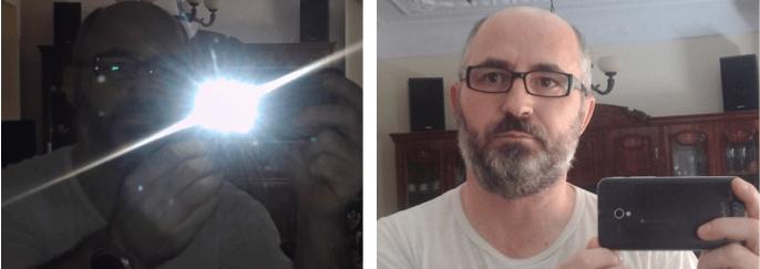 3 Fotos con espejo