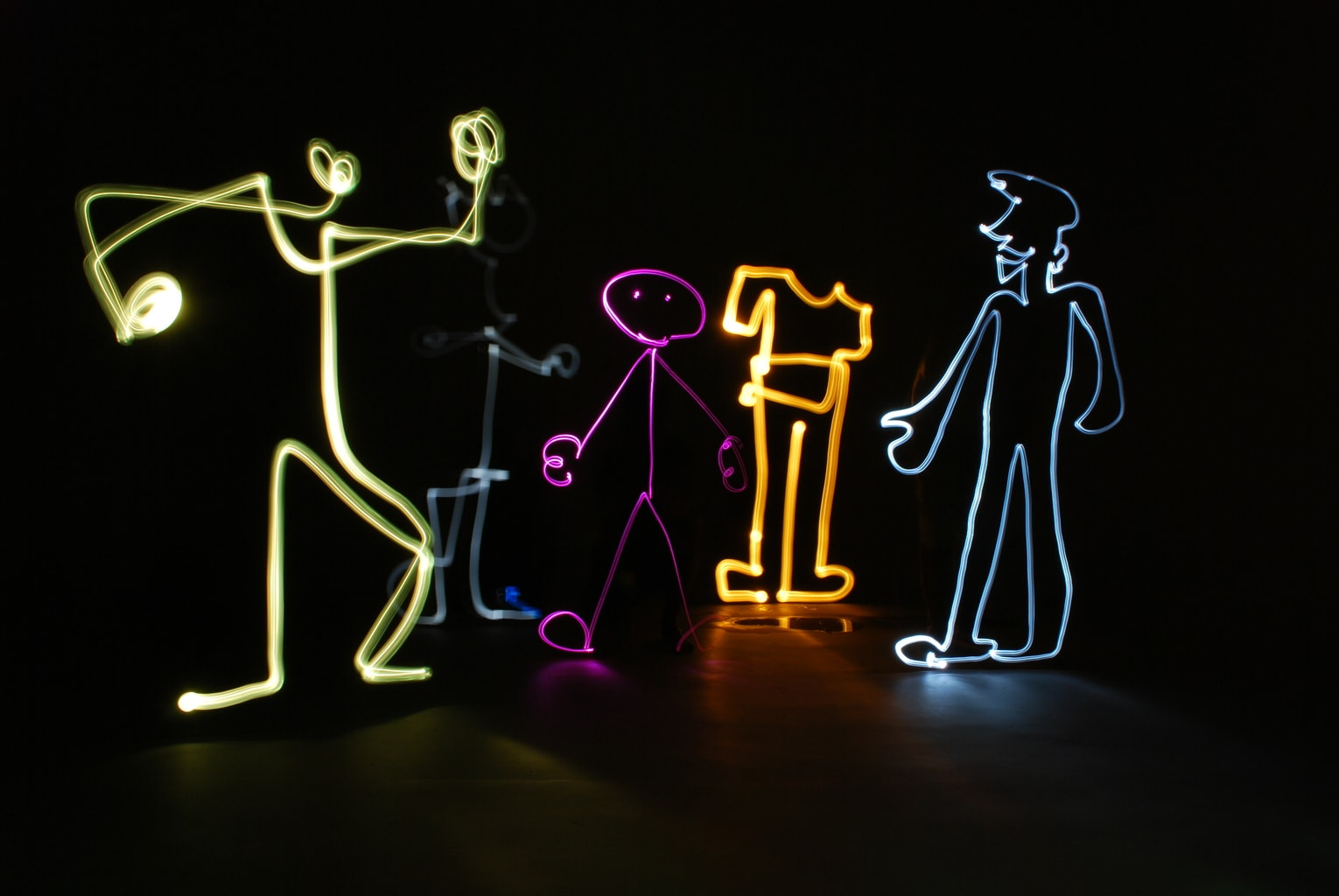 Personajes.. con Lightpainting