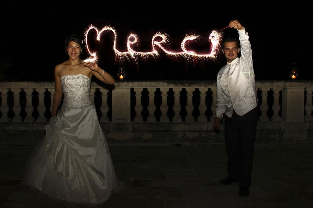 Lightpainting en una boda