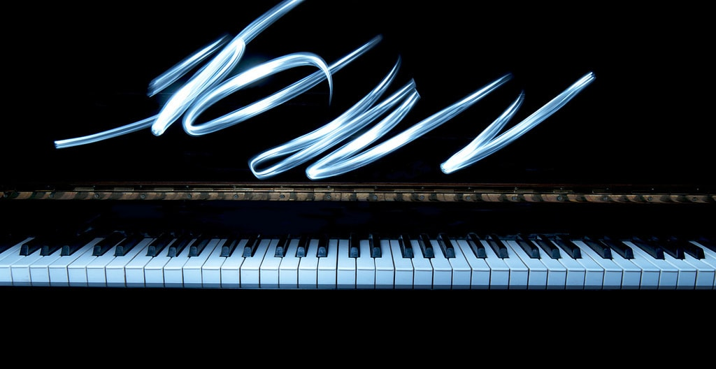 Lightpainting sobre un piano