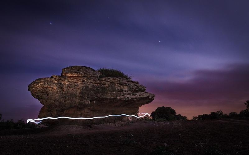 Fotografia Nocturna con la técnica de Lightpainting - Fotografía de Juan Andrés López - creative commons