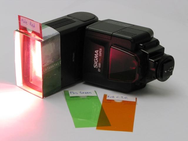 Gelatinas de colores para tu flash