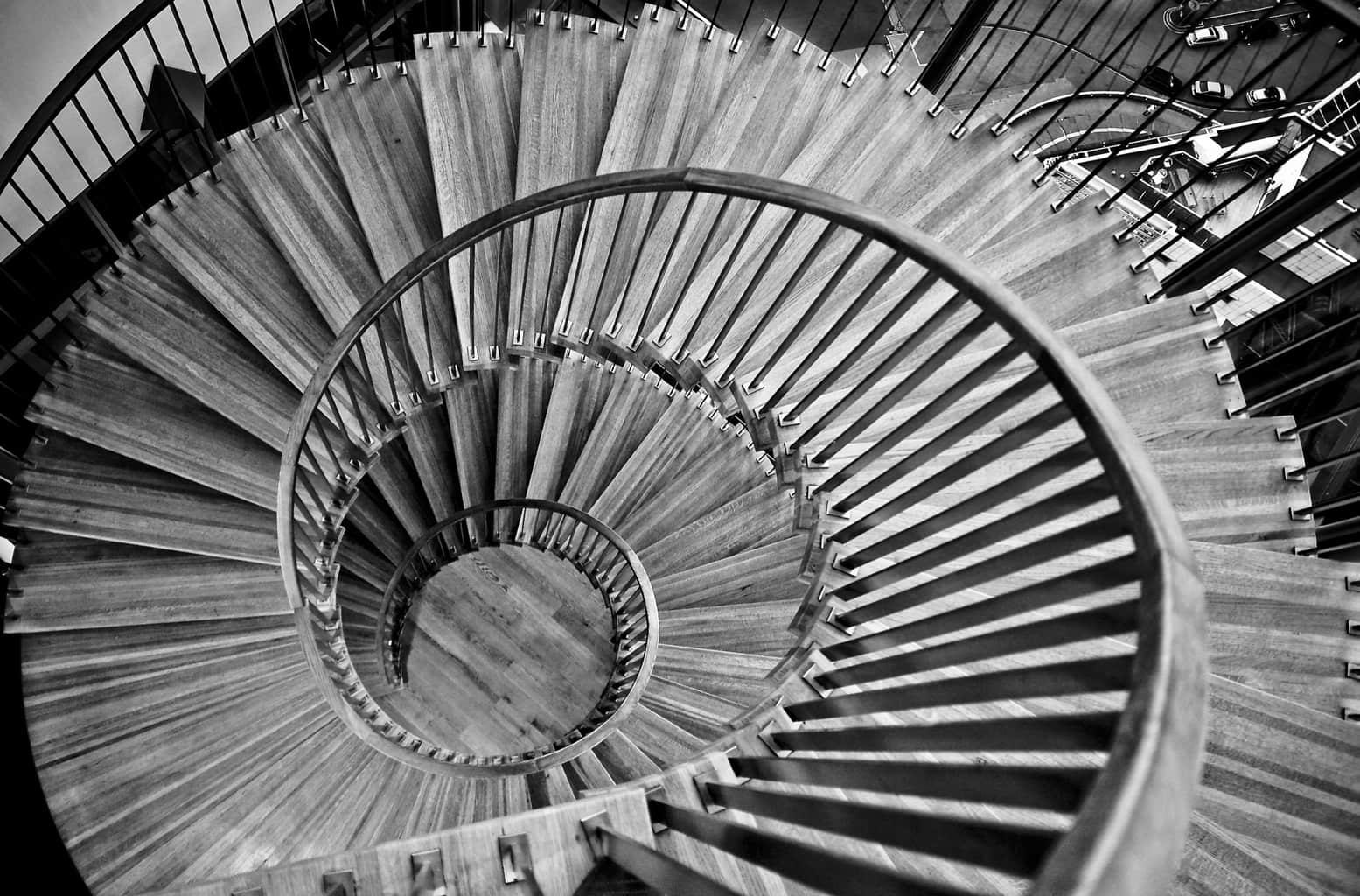 Ejemplo de composición con líneas curvas
