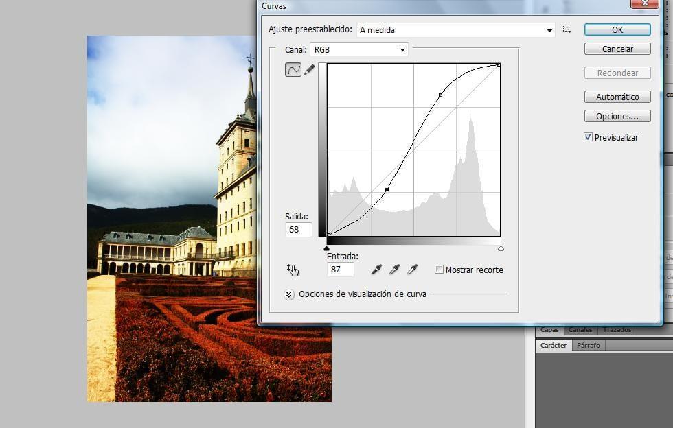 Modifico la curva para aumentar el contraste