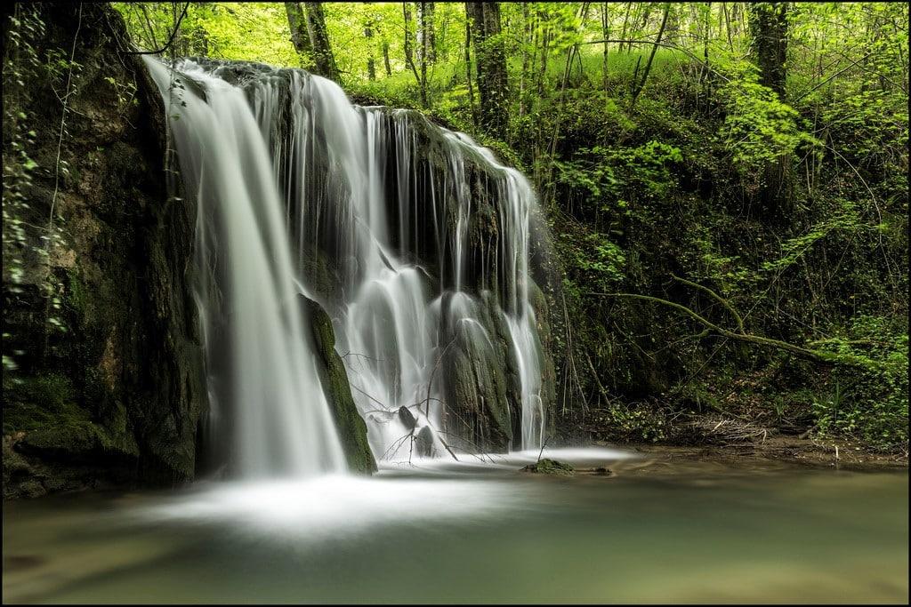 El agua como seda