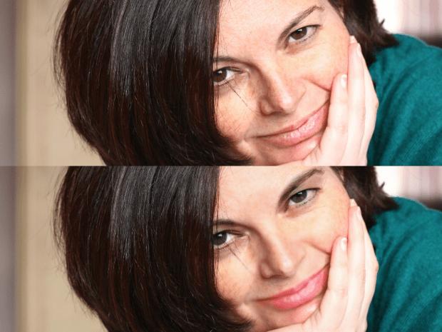 Maquillaje con Fotor. Yo lo he exagerado bastante, pero se puede ser más sutil ;)