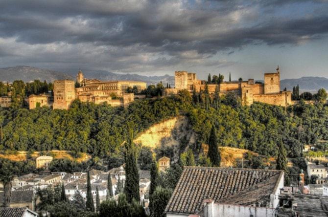 Atardecer sobre La Alhambra