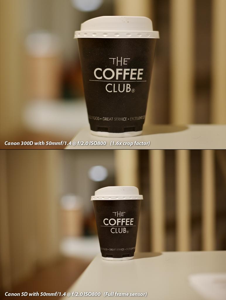 """Comparativa de imagen con cámara con y sin """"Full Frame"""""""