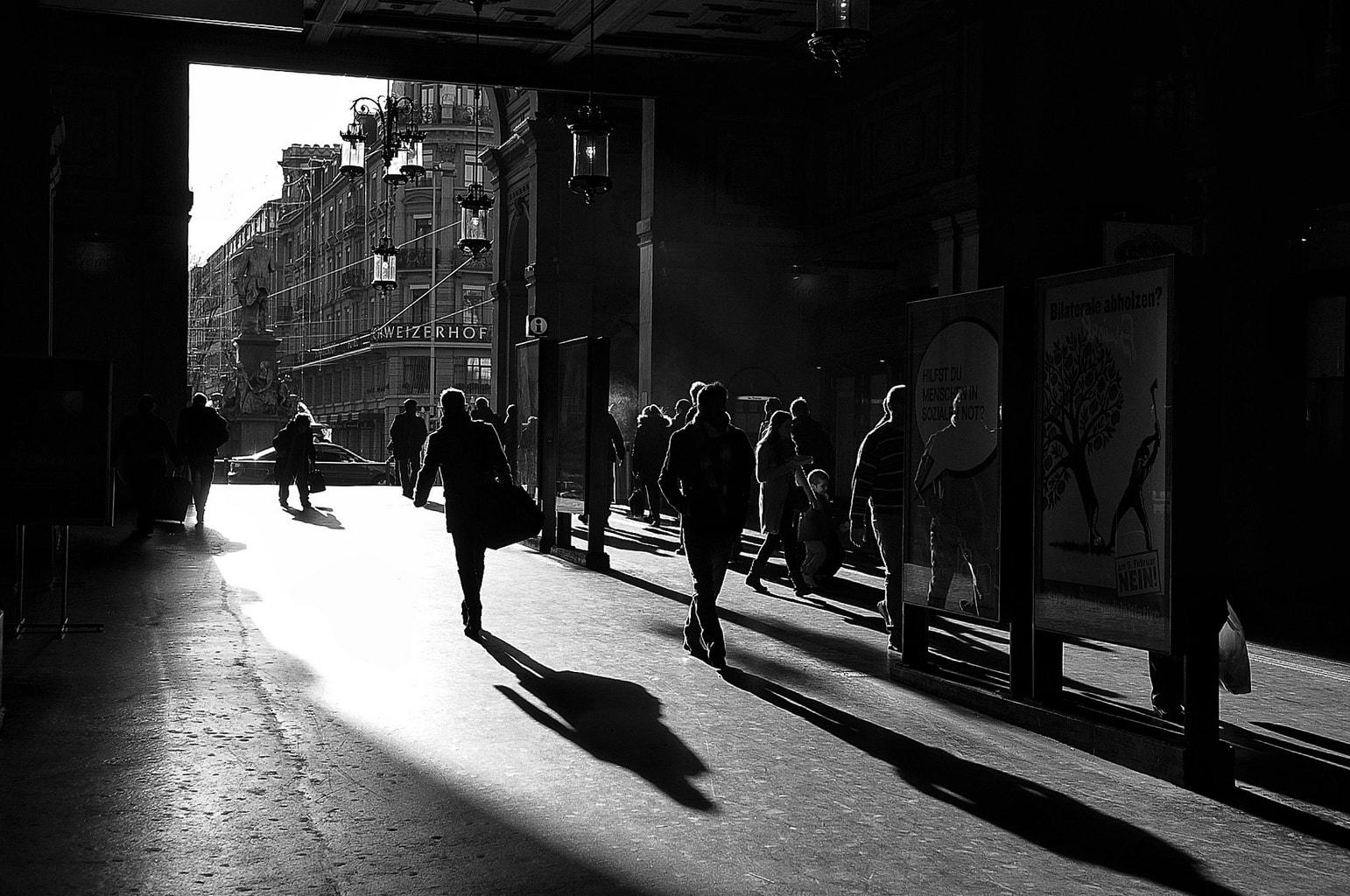 Sombras de contraluz.