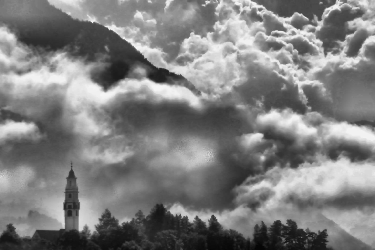 Cielo en blanco y negro
