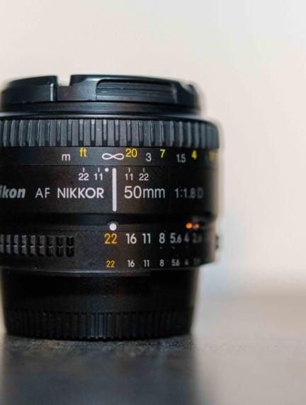 objetivo para cámara réflex Nikon