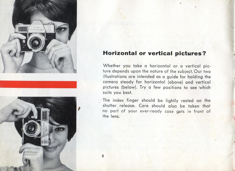 Leer las instrucciones de la cámara!!!