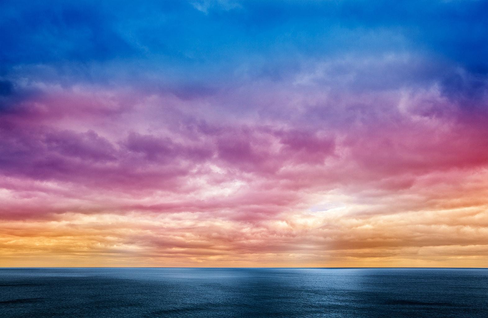 El horizonte bajo le da mayor protagonismo al cielo.