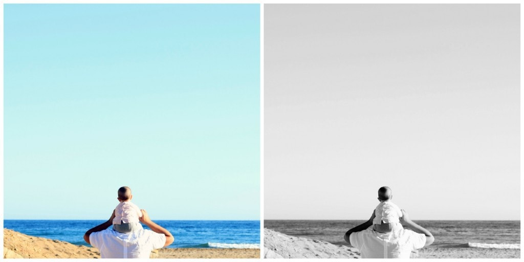 Si tu imagen se sostiene por el color, es un gran error pasarla a monocromo.