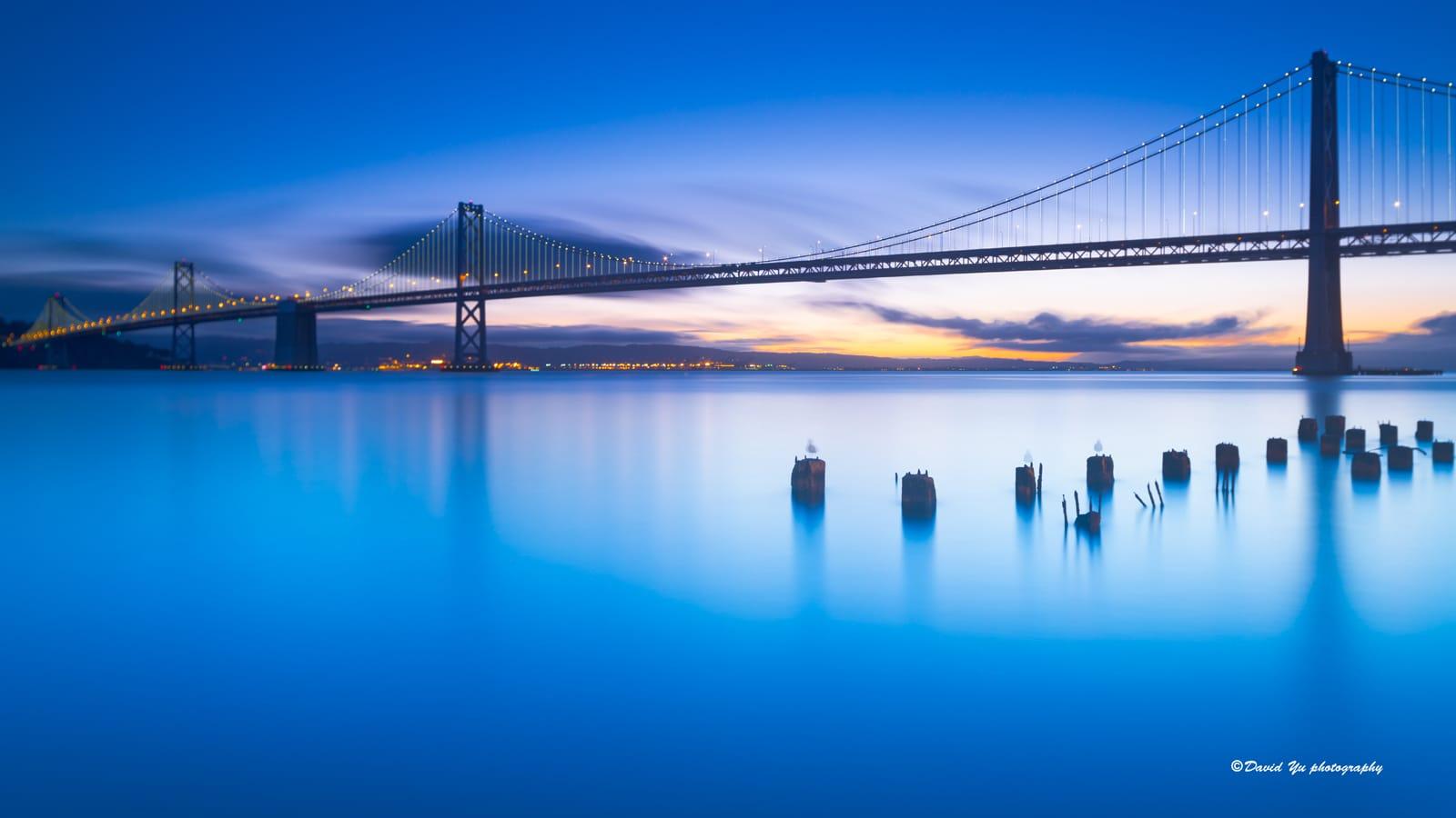 Hora azul al amanecer