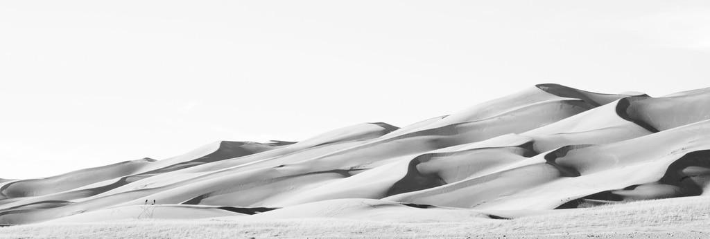 Dunas en blanco y negro
