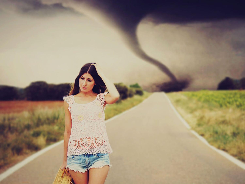 El tornado, mejor desde bien lejos