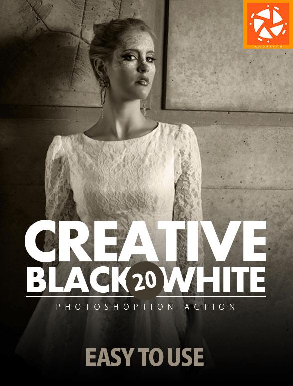 20 acciones creativas para blanco y negro