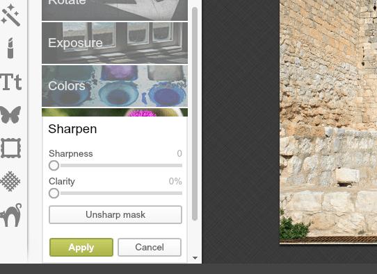 editor sharpness y nitidez