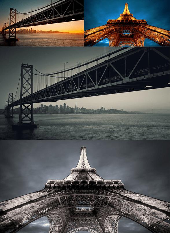 Acción blanco y negro para fotógrafos y diseñadores