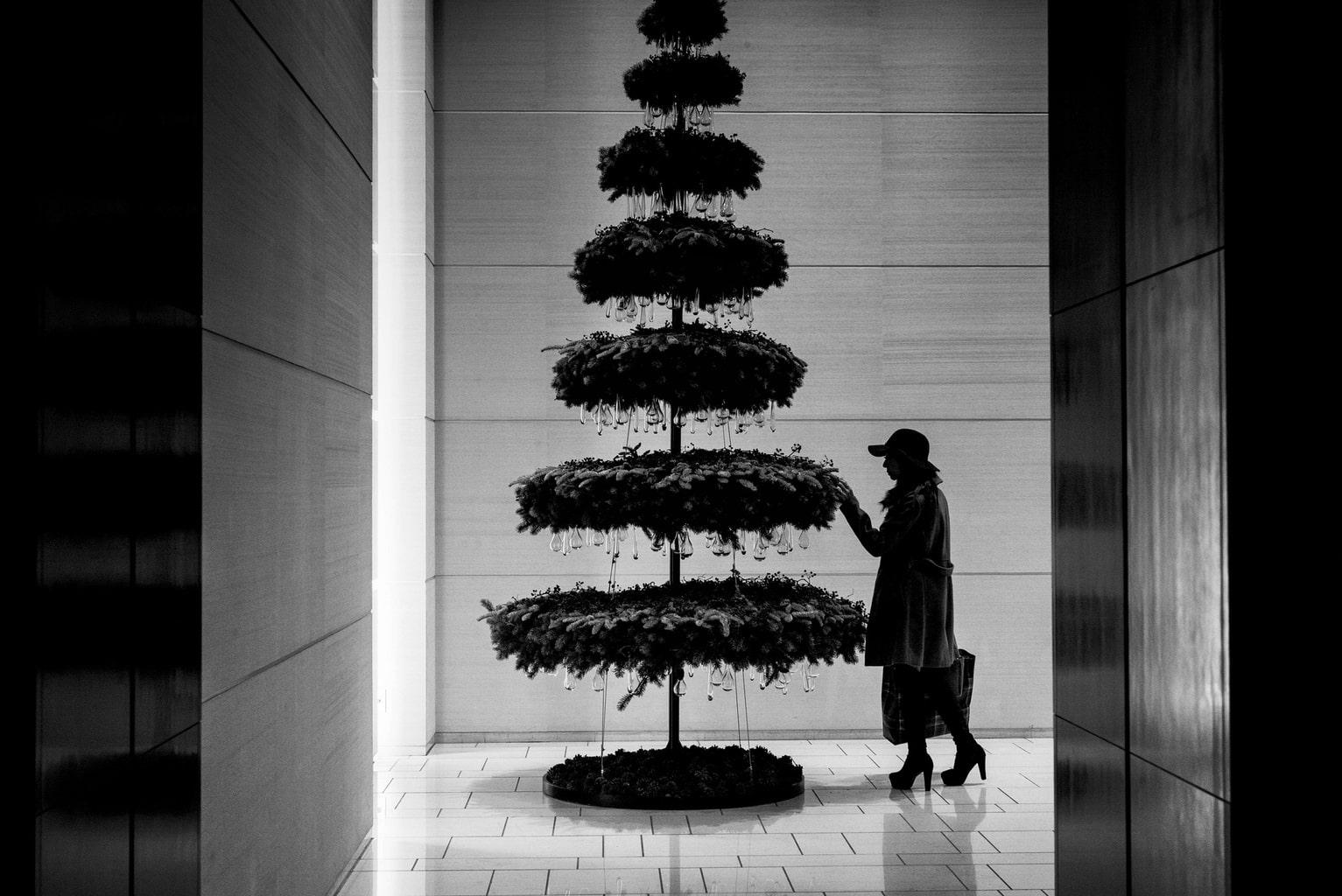 El blanco y negro también existe en Navidad