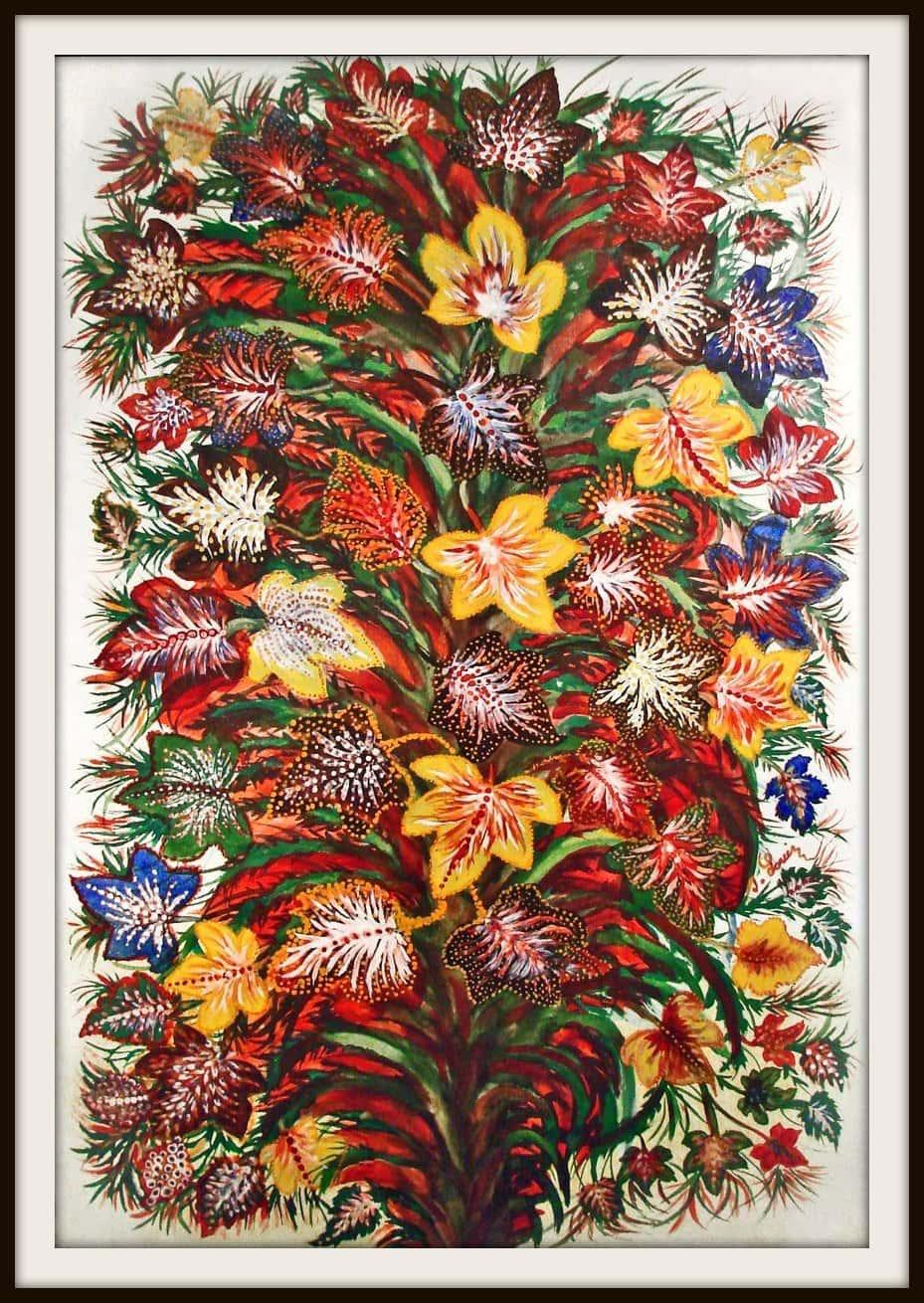Feuilles d'automne, vers 1928-1930 Huile sur toile, 145 x 97 cm Collection particulière