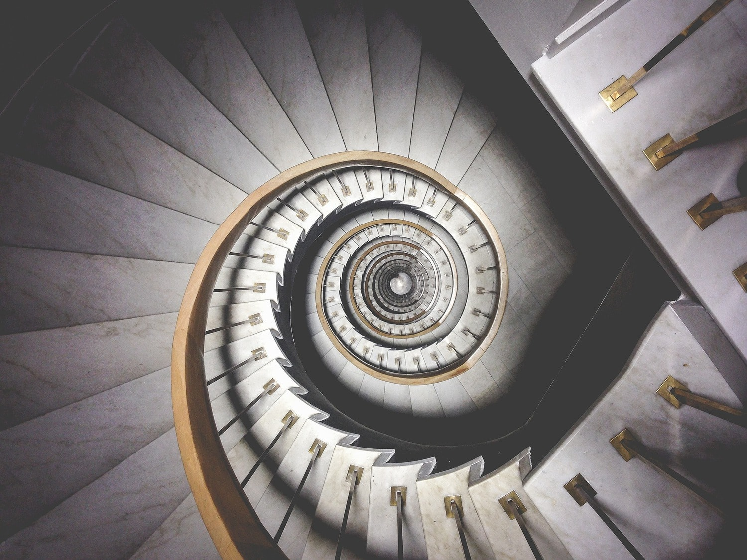 Espiral capturada por Unsplash