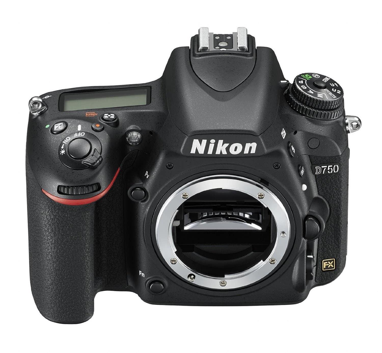 frontal de la cámara nikon D750