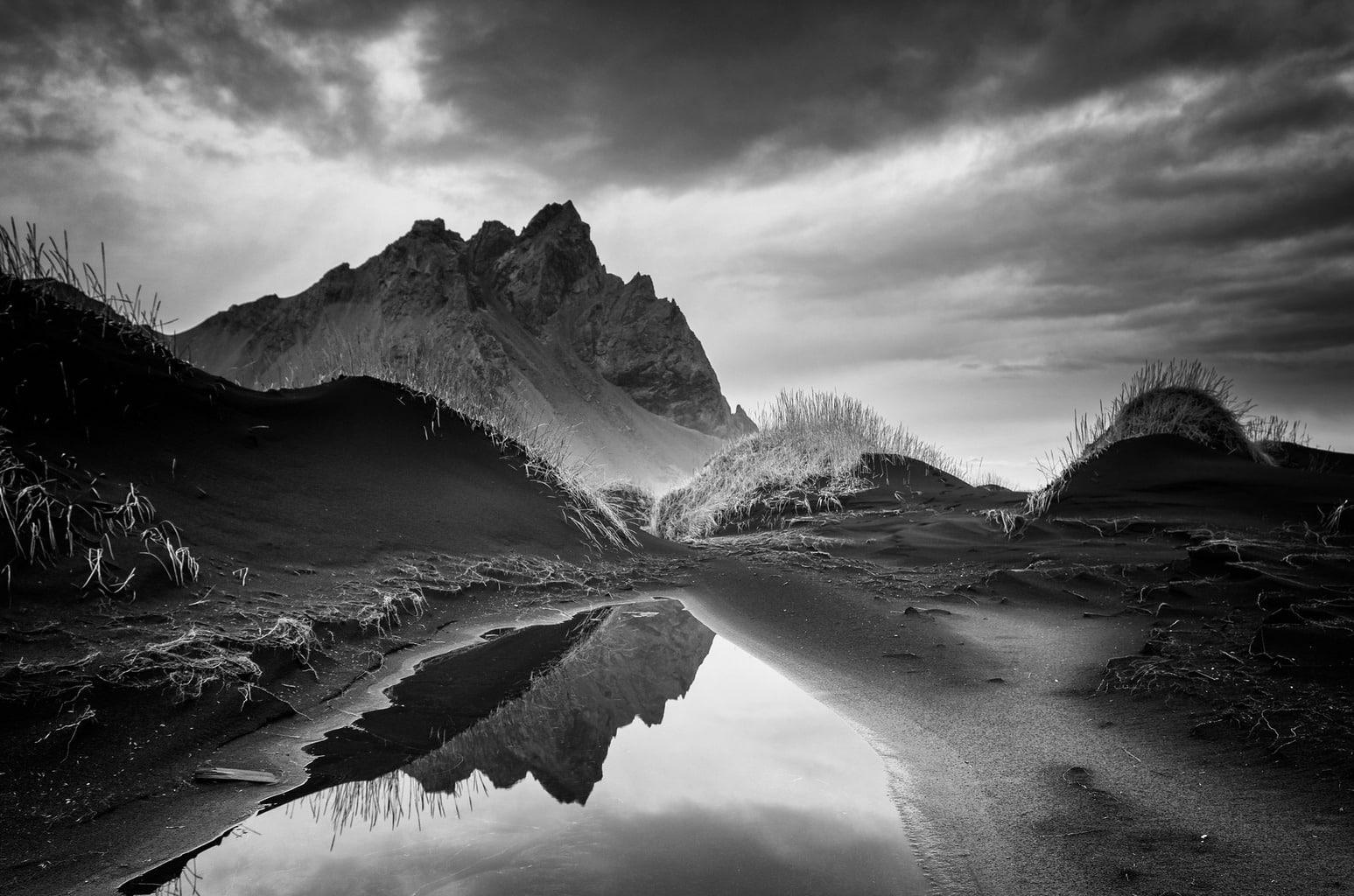 El blanco y negro también existe en paisajes