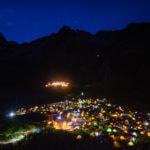 Luces noche paisaje