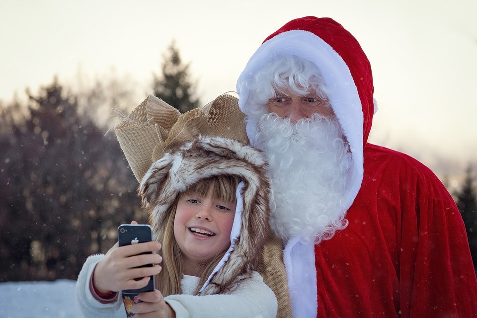 Selfie con Papá Noel