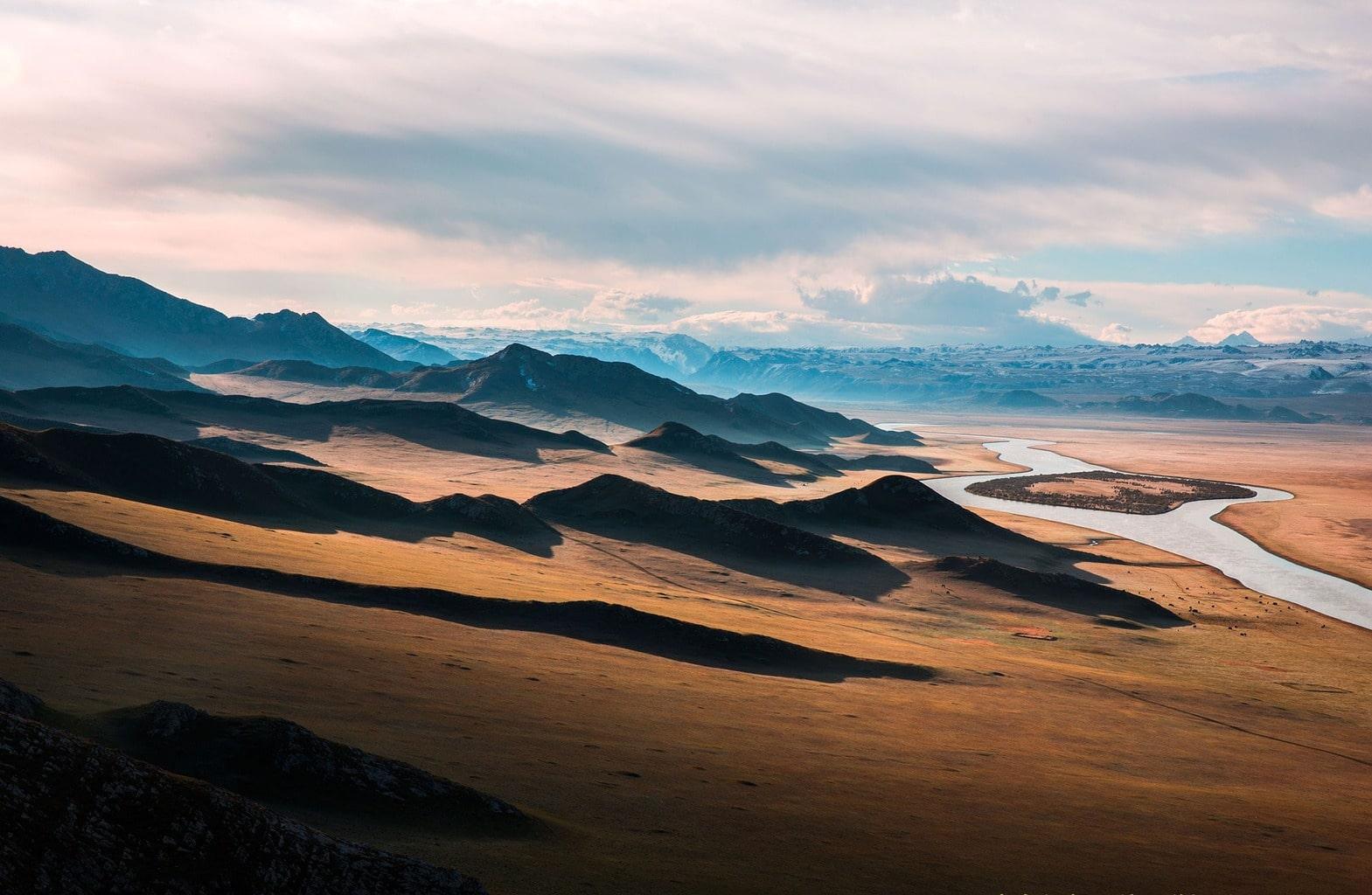 fotografía paisaje de una pradera