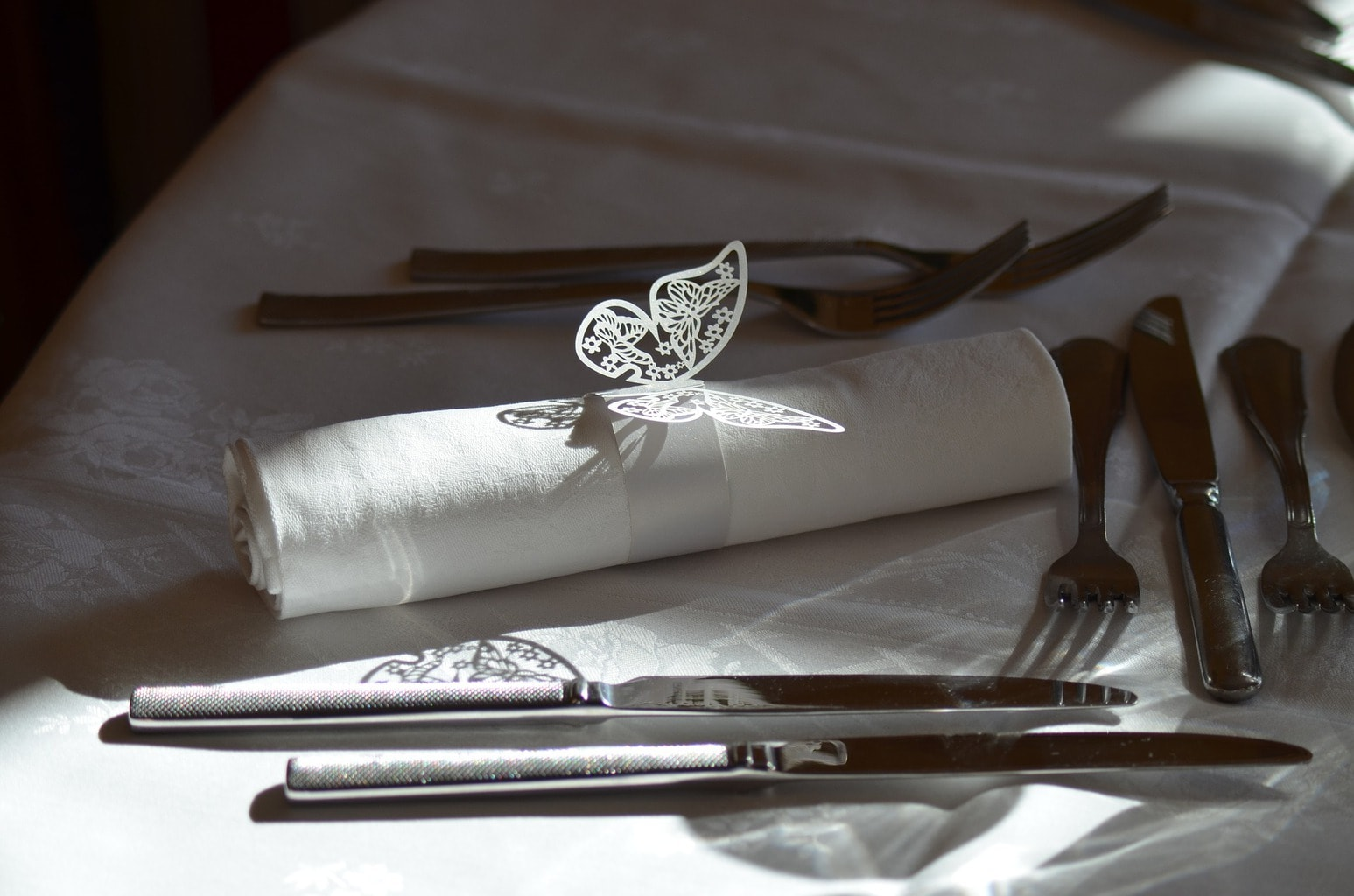 Decorativos comensal de una boda
