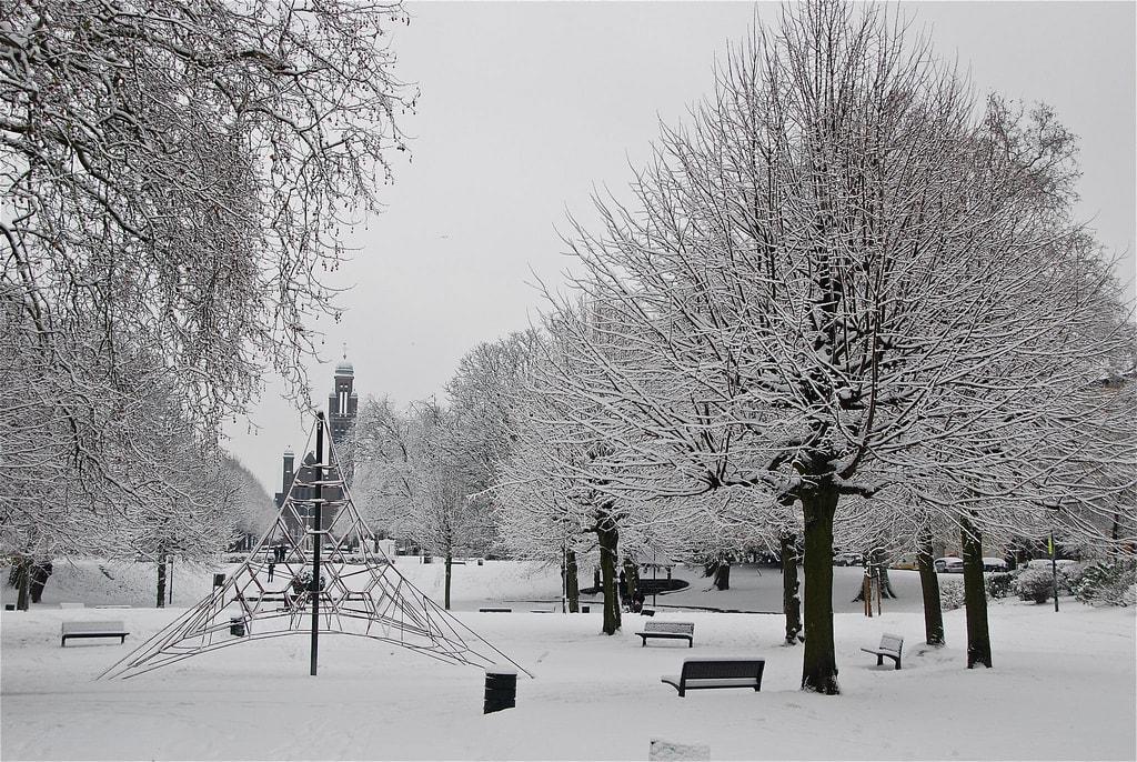 fotografía paisaje con nieve