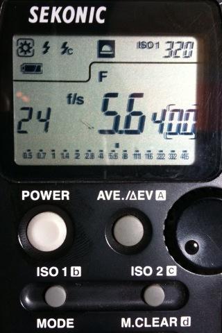 ejemplo fotómetro Sekonic
