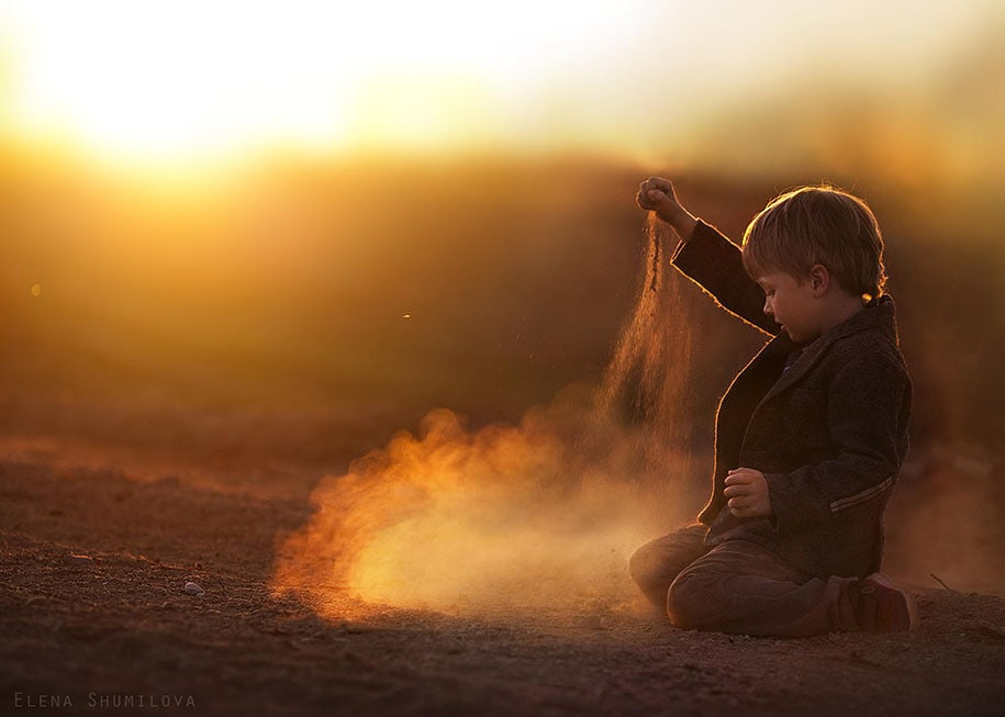 fotografía de un niño Elena Shumilova