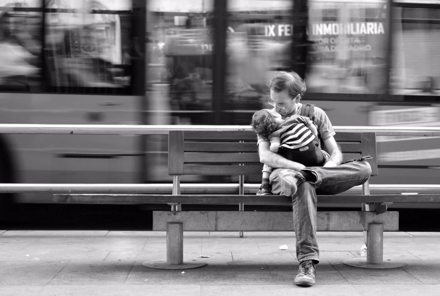 fotografía padre con su hijo
