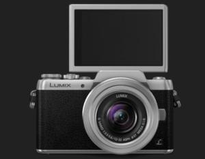 Fotografía cámara Lumix GF7 con pantalla