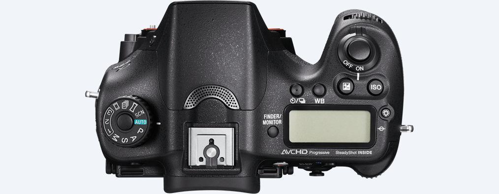 botones Cámara Sony A77 II
