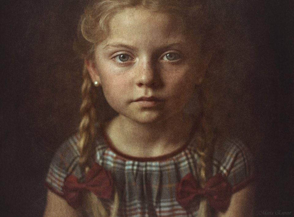 fotografía retrato de una niña Marta Everest