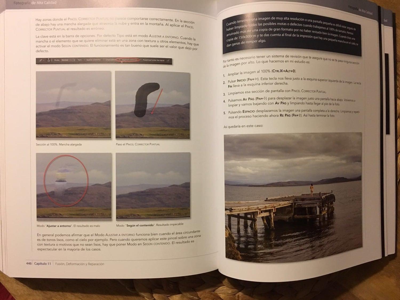 ejemplo reparación libro fotografía de alta calidad