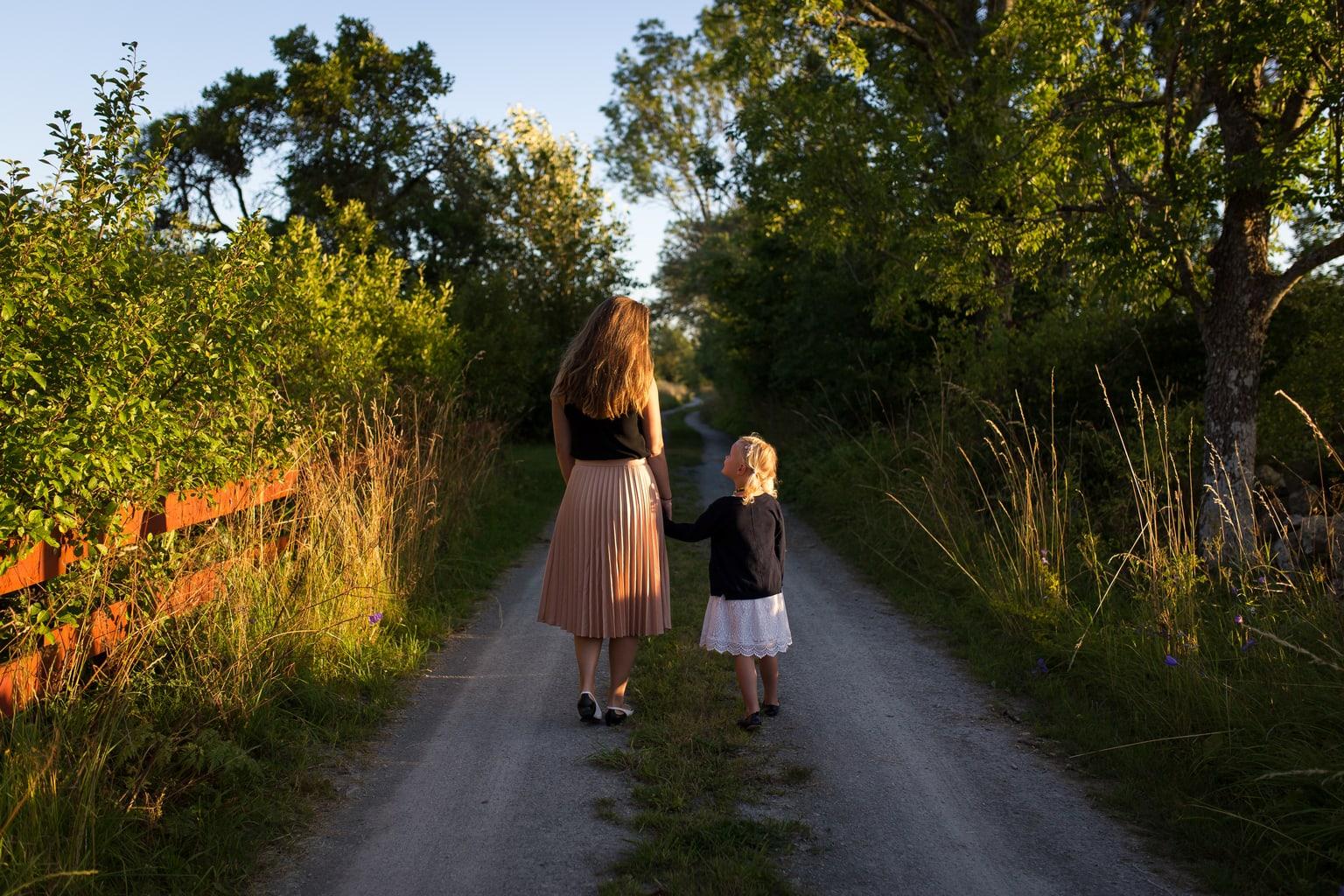 fotografía paisaje madre con su hija