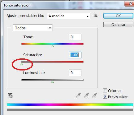 Photoshop selección tono/saturación