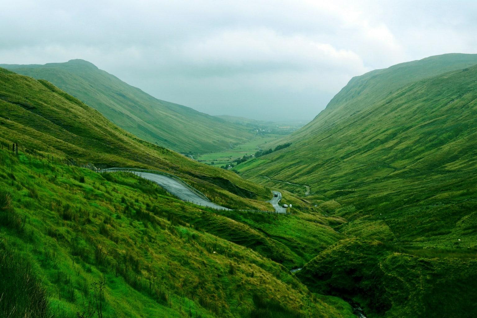 fotografía paisaje de montañas