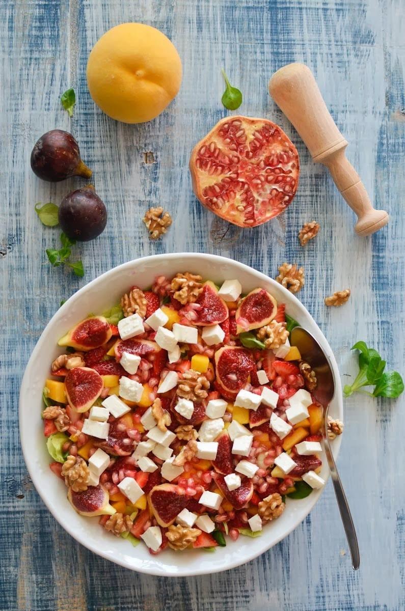 fotografía gastronómica de una ensalada